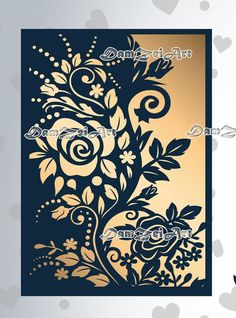 Enlarge and square off for dining table. Stencil Rosa, Lace Stencil, Stencil Art, Stencils, Wedding Card Templates, Wedding Invitation Cards, Wedding Cards, Motif Arabesque, Etsy Cards