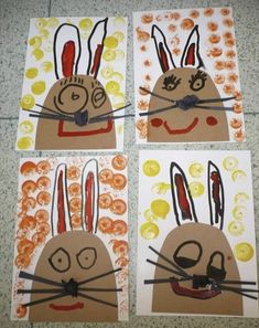 Easter Projects, Easter Crafts For Kids, Projects For Kids, Kindergarten Art Projects, Easter Art, Bunny Crafts, Easter Activities, Art Classroom, Spring Crafts