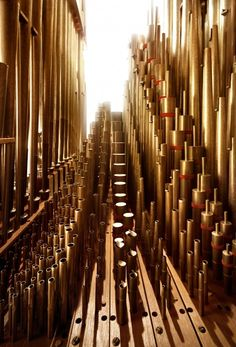 "macro image of the interior of a pipe organ, from a series entitled ""Näher an der Klassik"" by Andreas Mierswa & Markus Kluska"
