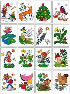 The Seasons for Children Infant Activities, Activities For Kids, Weather For Kids, Preschool Puzzles, Autumn Crafts, School Decorations, In Kindergarten, Newcastle, Four Seasons