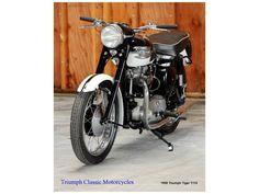 1958 Triumph Tiger T110, Costa Mesa CA - - Cycletrader.com