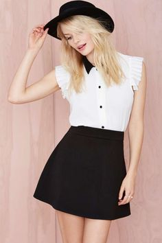 Laurene Scuba Skirt - Black - Skirts   Clothes      Skirts
