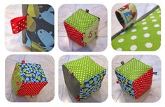 inge snuffel: bal-knuffel-kubus-dinges Diy Gifts For Kids, Diy For Kids, Crafts For Kids, Kim Wilde, Diy Toys, Baby Sewing, Couture, Projects To Try, Decorative Boxes