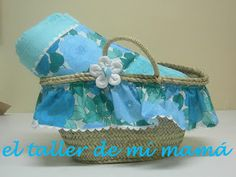Capazo para la piscina a juego con la toalla. Se puede personalizar con otras telas y colores.