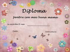 diploma pentru cea mai buna mama   Cu Alex la gradinita