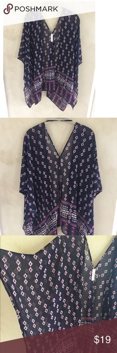 Love Tree Sheer Cardigan Very stylish cardigan! Like new. It is made of sheer fabric that flows very nicely.  It has a tie on the back to secure the arms from falling.  Great looking with shorts, a dress, or jeans... even over a bathing suit! Love Tree Other