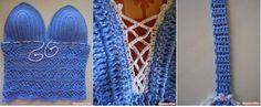 """Meninas Navegando por ai encontramos um Blog """"Crochet Passion"""" onde disponibilizou este PAP Fantástico! Com A Base você pode Criar Cropped,..."""