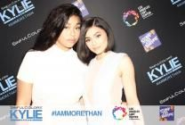 Kylie Jenner and Jordyn Woods looking perfect in MVS Studio's fobo Photobooth at the #StompOutBullying SinfulColors #IAmMoreThan Luncheon.