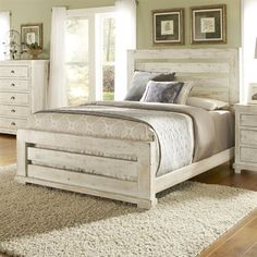 Trinell Pc Queen Bedroom Set Replicated Oak Grain Takes The