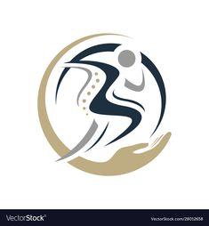 Royalty-Free Vector Images by taawon (over Logo Sport, Sports Logo, Medical Logo, Medical Art, Chiropractic Logo, Pilates Logo, Banner Design Inspiration, Design Ideas, Massage Logo
