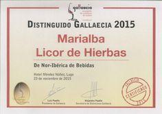 Licor de Hierbas Marialba (IGP) #orujo #liqueur  - Gallaecia 2015