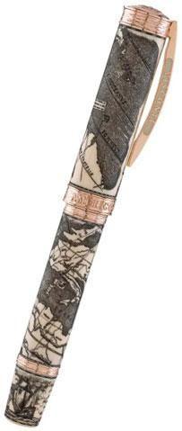 Visconti Amerigo Vespucci Limited Edition Fountain Pen Rose Gold Broa