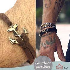 COMO USAR HOMENS - PULSEIRAS  Saindo dos clichês como relógios e colares, as pulseiras também são opções para homens que querem complementar seu look com bastante estilo.  Veja mais em: http://www.roupassa.com.br/store/blog/como-usar-pulseiras-masculinas/?preview=true&preview_id=293&preview_nonce=10cab4ea7c&post_format=standard  #modaparahomens #comousarpulseiras #pulseiras #lookdodia