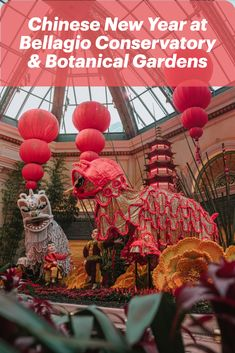 Celebrate the Year of the Rat at the Chinese New Year display at the Bellagio Conservatory and Botanical Gardens.