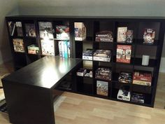 Because my husband and I are board game nerds.... this would be perfect! ikea Shelf and table 4 GAMES... love it!!