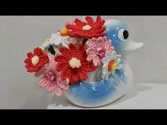 FLORES DE GANCHILLO PARA CACTUS - YouTube Diy Y Manualidades, Snow Globes, Free Pattern, Diy And Crafts, Youtube, Videos, Decor, Crochet Roses, Crochet Cactus
