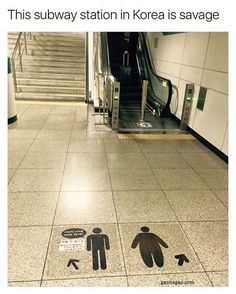 Funny Subway Sign About Men vs Women in South Korea