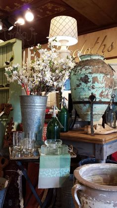 Vintage display at r.h. ballard shop & gallery  #retaildisplay