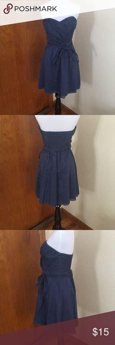 Blue Express Dress Blue Express Dress, side zip, 100% cotton. Express Dresses Strapless