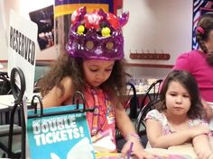 Grandaughter Taylor's 5th birthday party at ChuckyCheese in Frederick Md