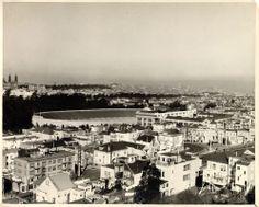 View of Kezar stadium from Parnassus (1929)