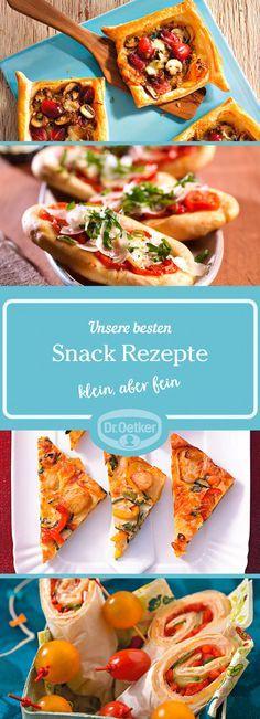Snacks: Rezepte für Ihre Party und andere Anlässe.