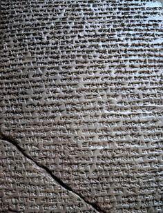 This bronze tablet is the original text of a border agreement between the Hittite ruler Tuthalia IV and Kurunta, the ruler of Tarhuntassa. Ankara Anatolian civilizations museum.