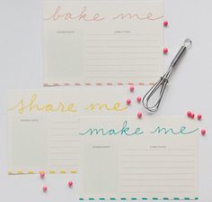 FREE Recipe Card Printables ... SO CUTE!!!!