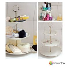 "Blogger inspiration: DIY cake stand by http://www.das-hat-mark-gemacht.de using ""round bronze"" (www.koalaplan.com)"