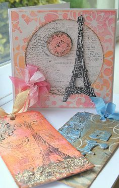 Kath's Blog......tim holtz Eiffel Tower Die http://kath-allthatglitter.blogspot.com/2013/03/mad-and-definitely-messy.html#
