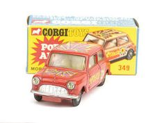 "Mettoy Corgi diecast No.349 Morris Mini Minor ""Pop Art"""