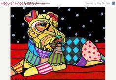50% Off- Welsh Terrier pop art dog Art  Art Print Poster by Heather Galler  Heather Galler (HG892)