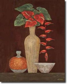 Cuadro Red Anthuriums - Misa, Eva