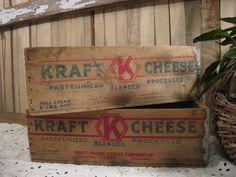 Vintage Kraft Cheese Boxes
