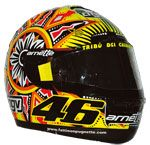 The 2002 MotoGP was another 'business as usual' season for Valentino Rossi as he continued to dominate the series on his Repsol Honda Valentino wa Valentino Rossi Helmet, Valentino Rossi 46, Will Arnett, 1957 Chevrolet, Motorcycle Helmets, Sport Bikes, Soccer Ball, Honda, Rossi Motogp