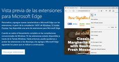 Ya puedes probar las primeras extensiones del navegador Microsoft Edge