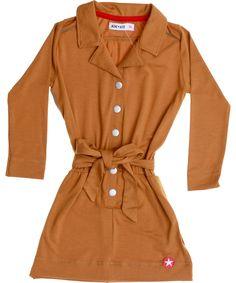 Kik-Kid fantastische comfortabele jurk in goudgeel. kik-kid.nl.emilea.be
