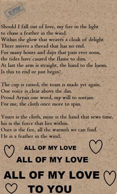 """Led Zeppelin - """"All My Love"""" song lyrics (This song is about the death of Robert Plant's son Karac who died of a stomach virus at the age of 5 & the difficulty he & his wife Maureen had after the loss...such a beautiful & heartfelt song.) <3"""
