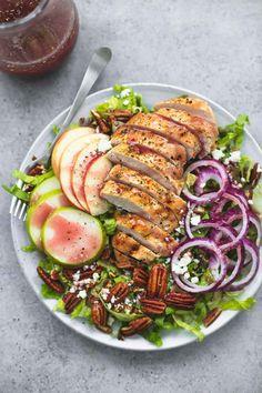 Autumn Harvest Chicken Salad   lecremedelacrumb.com