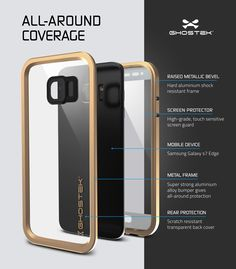 Galaxy S7 EDGE Waterproof Case, Ghostek Atomic 2.0 Gold Shock/Dirt/Snow Proof | Lifetime Warranty
