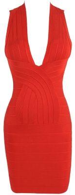 NYE Red Bandage Dress