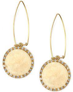 Rachael Roy Ivory drusy earrings