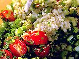 Barefoot Contessa's Tabbouleh salad. Perfect for potlucks. I skip the fresh mint and go heavy on the parsley. I also add bell peppers. Wait until the last minute to add the tomatoes and the salad will still be great the next day