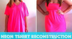 Love this! XL tshirt to cute summer dress!