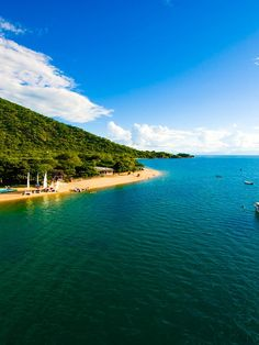Lake Malawi National Park (UNESCO World Heritage Site), Malawi - Located at the southern end of the great expanse of Lake Malawi, with its deep, clear waters and mountain backdrop, the national park is home to many hundreds of fish species, nearly all endemic. Its importance for the study of evolution is comparable to that of the finches of the Galapagos Islands.