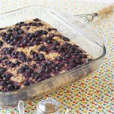 blueberry baked oatmeal -- nourishing traditions style
