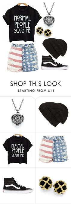 """Untitled #6"" by fangirlr18 ❤ liked on Polyvore featuring Phase 3, Topshop and Vans"