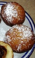 German New year Fasching Donuts With 3 Fillings, Vanilla, Chocolate and Jelly