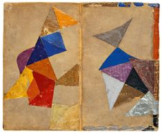 MoMA | Inventing Abstraction | Sonia Delaunay-Terk | Binding for the book Les Pâques (Easter) by Blaise Cendrars. 1913