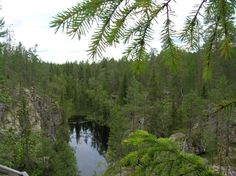 According to an old Finnish legend a demon called Hiisi fled to the peaceful and quiet setting of Hiidenportti River, Mountains, Nature, Outdoor, Finland, Outdoors, Naturaleza, Outdoor Games, Outdoor Living